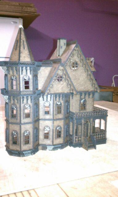 "1:48 1//4/"" Scale Jasmine 2 Gothic Victorian Cottage Laser Dollhouse Kit 0002084"