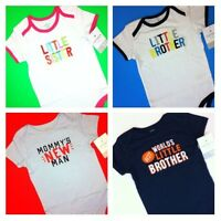 Little Sister Brother Man Boys Girls Bodysuit Shirts 1 Pc 12 18 24 Months $12