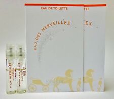 EAU DES MERVEILLES by HERMES EDT Women Perfume 2ml .06oz Sample Spray NEW X 2