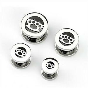 Knuckle Surgical Steel Screw Tunnel Ear Stretcher Expander CHOOSE SINGLE OR PAIR