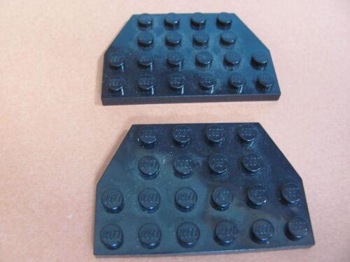 x2 Plate 4 x 6 Cut Corners LEGO 32059 @@ Wedge @@ BLACK @@ NOIR