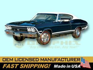 Details about 1968 Chevrolet Chevelle SS Super Sport Decals & Stripes Kit