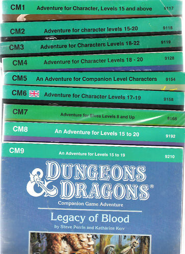 TSR DUNGEONS & DRAGONS D&D CM SERIES CM 19 COMPANION RPG ADVENTURES VGC