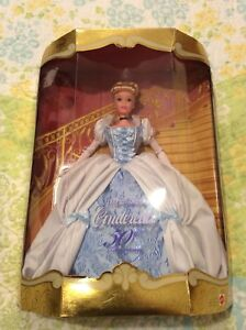 Cinderella-Barbie-Doll-50th-Anniversary-Excellent-Condition