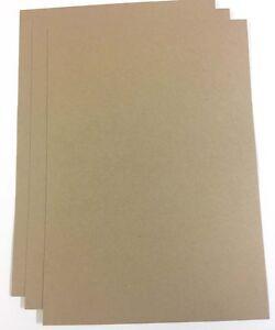 A1-A2-A3-A4-A5-100gsm-350gsm-Marron-Kraft-tarjeta-papel-del-arte-papel-ecologico