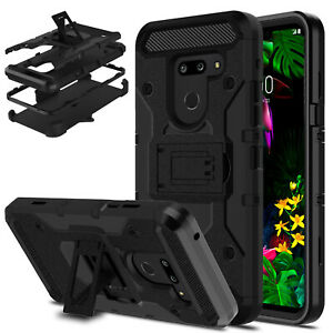 For-LG-G8-G8-ThinQ-G820-Case-Shockproof-Kickstand-Stand-Holster-Belt-Clip-Cover