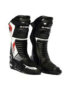 R-Tech-Road-Racer-mannen-racen-motor-laarzen-voor-alle-seizoenen-zwart-wit