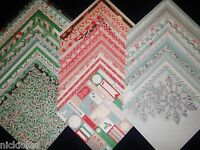 12x12 Scrapbook Paper Dcwv Christmas Winter 2014 Holiday Stack 60 Wholesale Lot