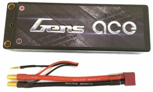 Gens Ace 6000mAh 2S 7.4V 70C 140C Lipo Battery Hard Case 4mm//5mm Banana Deans