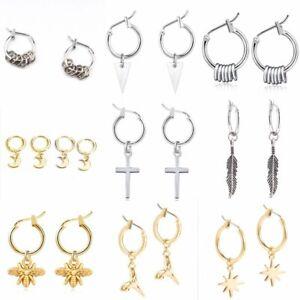 Charm-Women-Geometric-Star-Bee-Crescent-Circle-Drop-Dangle-Earrings-Jewelry-Gift