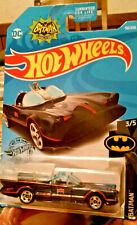 TV Series Batmobile #118 Black //w Blue Flames Batman 2019 Hot Wheels Case L
