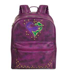 Image is loading Disney-Store-Descendants-2-Backpack-Faux-Leather-Purple- f68ebd537ef66