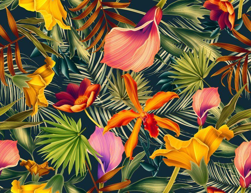3D Feuille Fleur 66 Photo Papier Peint en Autocollant Murale Plafond Chambre Art