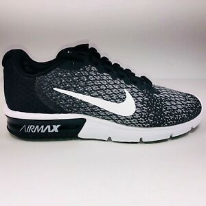 Details about Nike Air Max Sequent 2 Black & White Athletic Running Shoes 852461 005 Size 9.5