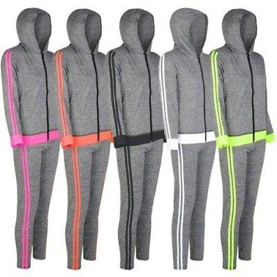 Activewear Women's Clothing Ladies Hooded Zip Jacket Leggings Sport Set Women Active 2 Side Yoga Outfit S-xl