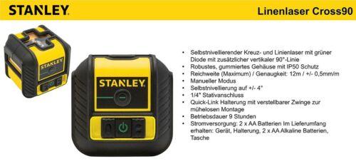 Stanley Cubix grüner Linienlaser Kreuzlinienlaser Baulaser STHT-77499-1