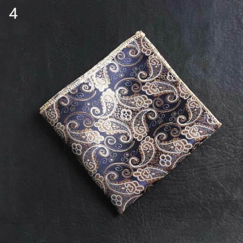 Satin Pocket square Floral embroidery Chest Towel Men handkerchief Hankies