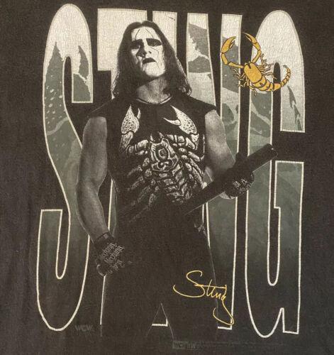 Vintage 90s Sting WCW NWO Portrait T-Shirt Tee XL