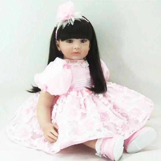 22  principessa Baby Girl bambola vinile Bambino unico Realistiche Reborn Giocattolo Bambini Regalo