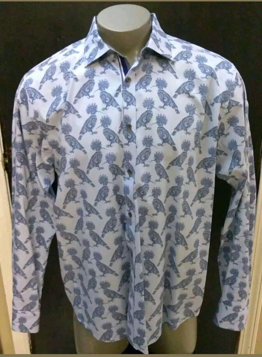 0e5fabc7784e Ted baker Floral Jacquard Jacquard Jacquard Shirt in bluee for Men Size  16.5 cff62b