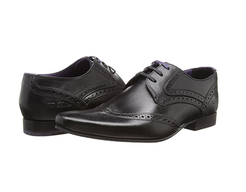 Ted Baker Da Uomo Lace-Up Hann 2 Derby CALATA Lace-Up Uomo Pelle Nero Tg RRP - 9ac56a