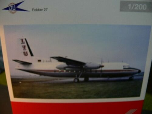 1//200 Herpa LTU Fokker 27 557047 prezzo speciale € 34,99 invece di 52 €