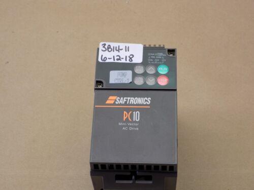 +USED PULLOFF SAFTRONICS PC10 MINI-VECTOR AC DRIVE PC10E1ST32001A1  PC102001-9