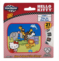 New View Master HELLO KITTY 3D Adventures Story Trip To Zoo See & Read 3 Reels Toys