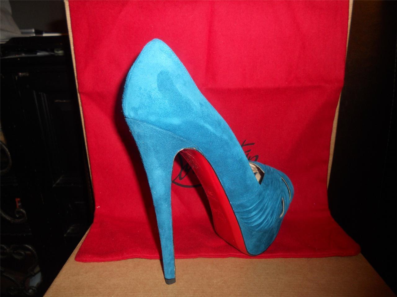 Christian Louboutin ABORINA Suede Suede Suede Twist Front Platform Heels Pumps chaussures 9ff7b7