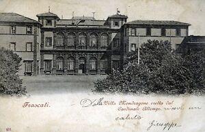 """"""" FRASCATI (RM) : Villa MONDRAGONE """" Viaggiata Anno 1911 - Italia - """" FRASCATI (RM) : Villa MONDRAGONE """" Viaggiata Anno 1911 - Italia"""