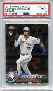 2018 Topps Chrome Update 11 Lourdes Gurriel Jr. Rookie PSA 9 MINT
