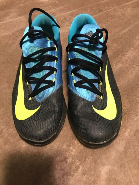 premium selection 99c9a 66594 Nike KD VI GS Kids youth Shoes Black Volt Vivid Blue Dark Grey Size 5.5