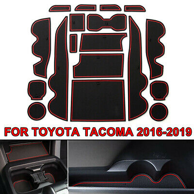 18PCS Custom Fit Cup Door Console Liner Accessories For Toyota Tacoma 16-19  | eBay