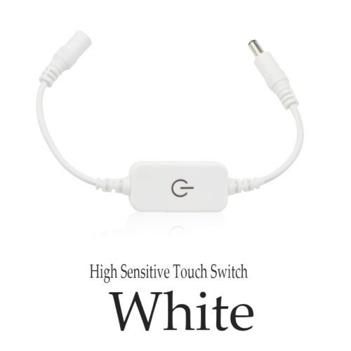Switch Control Adapter Touch Inline Dimmer For LED Strip Panel Light DC12-24V 4A
