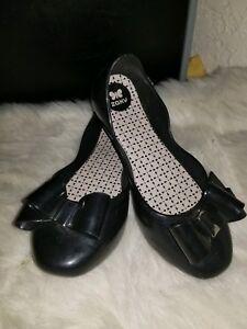 zaxy women's black casual jelly glitter bow slipon flat