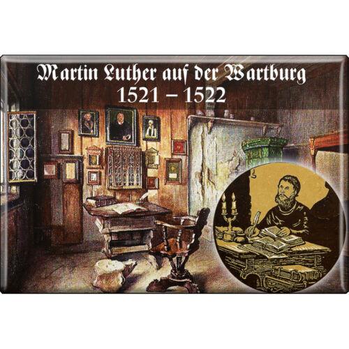 Kühlschrankmagnet Schild Button Tür Magnet • LUTHER • auf der Wartburg 38291