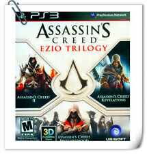 3 IN 1 PS3 ASSASSIN'S CREED EZIO TRILOGY Sony PlayStation Action Games Ubisoft