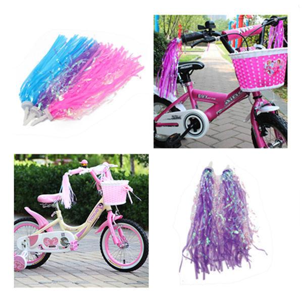 2 pcs Handlebar Streamers Tassels For Kids Bicycle Bike Cycling Tricycle GiftFOU