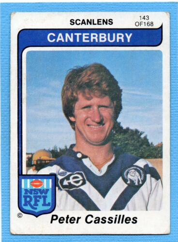1980 Scanlens Rugby League #143 OF 168PETER CASSILLESCANTERBURY