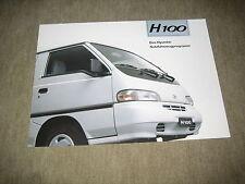 Hyundai H 100 Prospekt Brochure von 1994