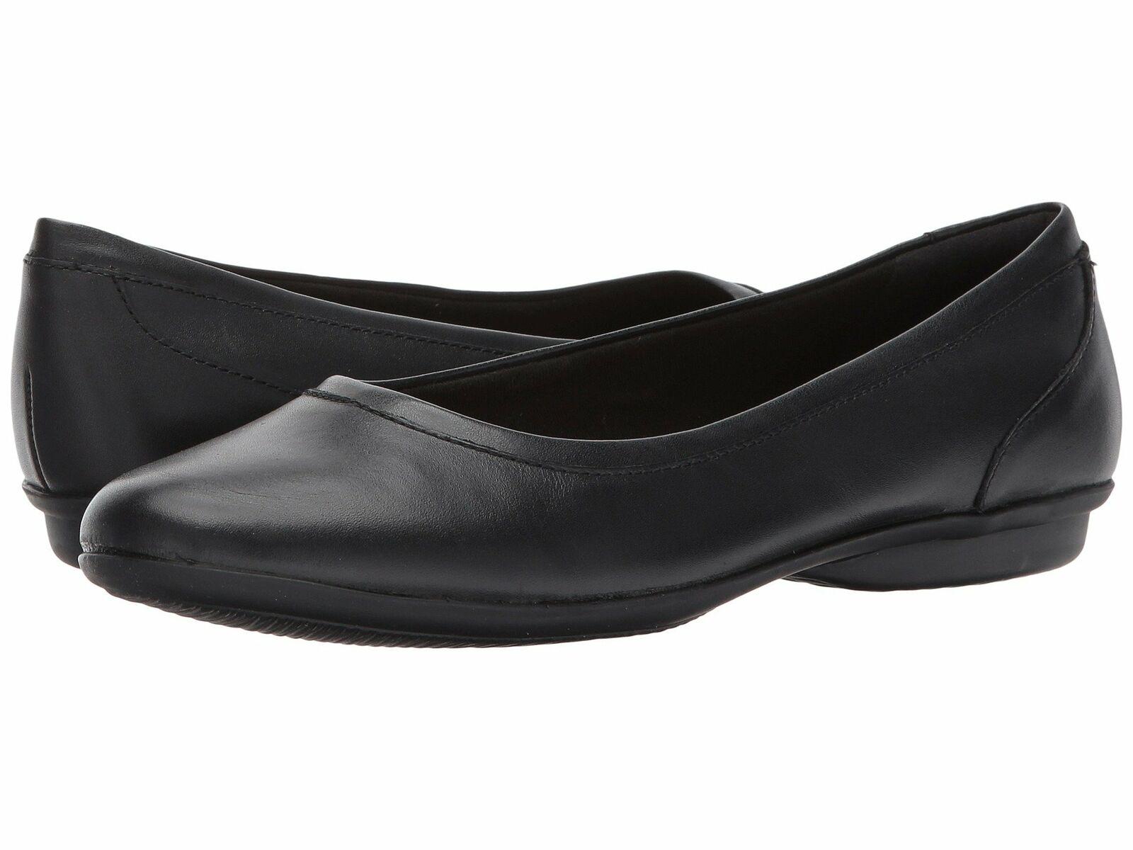 Clarks US 10 Eu 41.5 Damen Schwarz Slipper Gracelin Mara Form Flache Schuhe