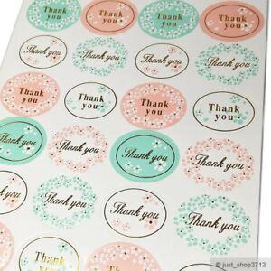 Details Zu 120 Aufkleber Thank You Hochzeit Wedding Blume Gold Etikett Sticker Siegel