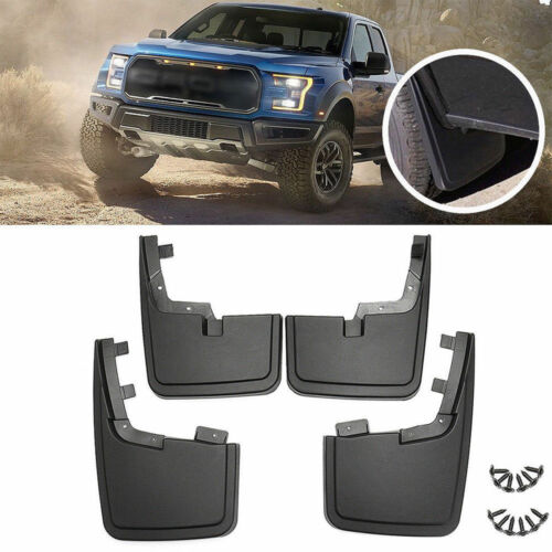 4Pc Truck Front Rear Wheel Mud Flap Splash Guard Fender for Ford Left Right Pair