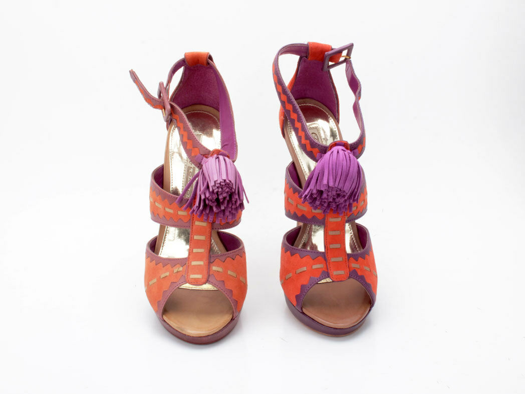 Buffalo 16765-663 Semi Cromo Cromo Semi Kid Suede Orange-lila ac2fb2