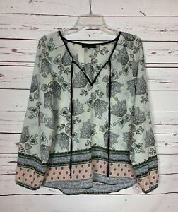 Anthropologie-Sanctuary-Women-039-s-S-Small-Floral-Boho-Long-Sleeve-Blouse-Top-Shirt