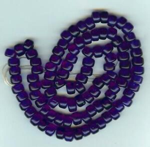 Crow Pony Glass Beads 9 mm strand of a 100 Transparent Dark Blue Beads,Bead