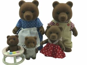Calico-Critters-Sylvanian-Families-Timbertop-Bears-Vintage-Flair-Epoch