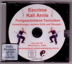 DVD Escrima Kali Arnis Waffenkampf Stockfechten fortgeschrittene Techniken