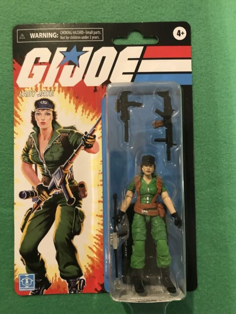 "Hasbro G.I. Joe 3.75"" Lady Jaye Retro Collection In Hand New Sealed Walmart 2021"