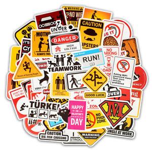 50-Warning-Stickers-Waterproof-Decal-Sticker-Bomb-To-Laptop-Skateboard-Luggage